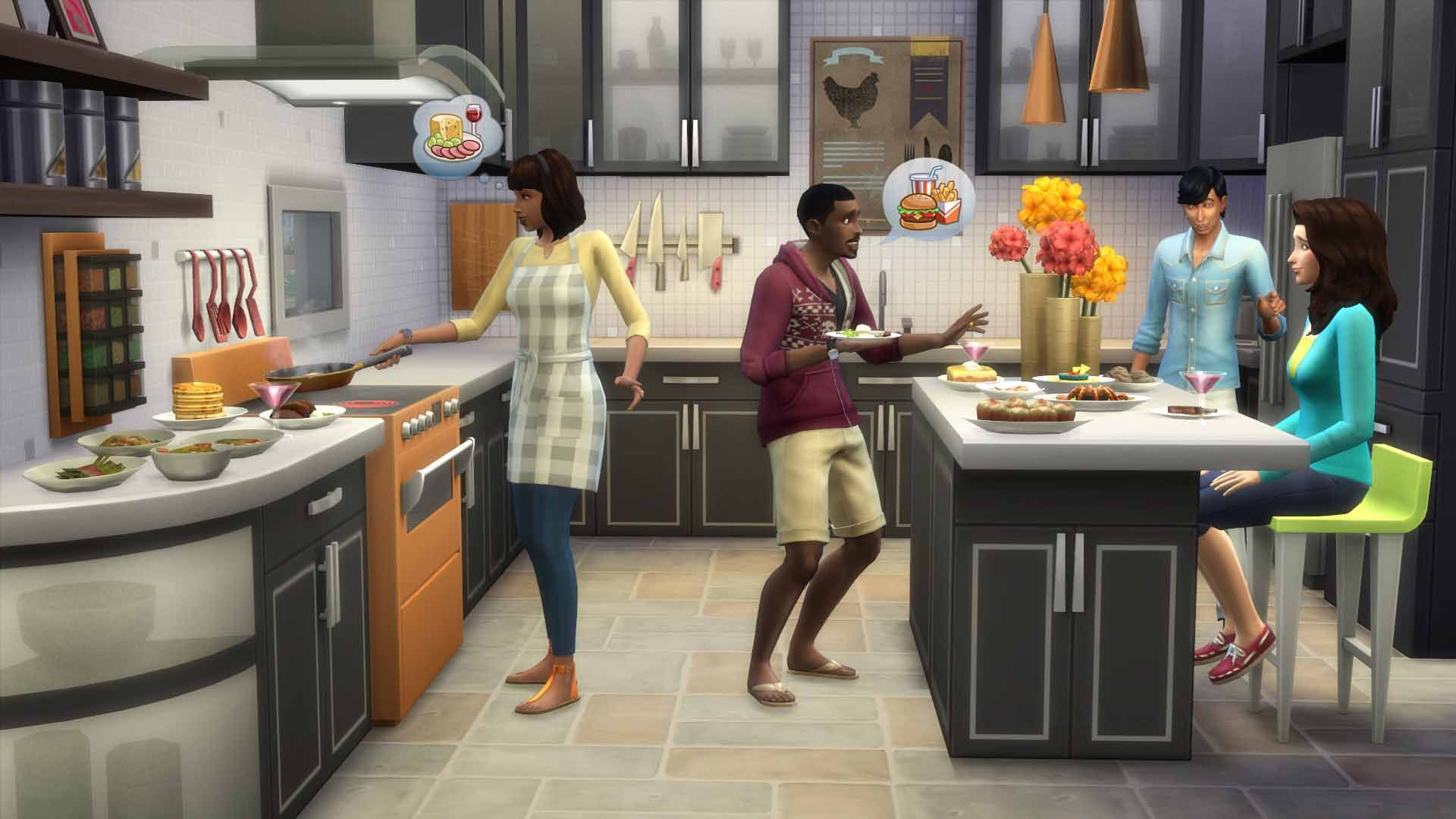 The Sims 4 Cool Kitchen Stuff For Pc Mac Origin