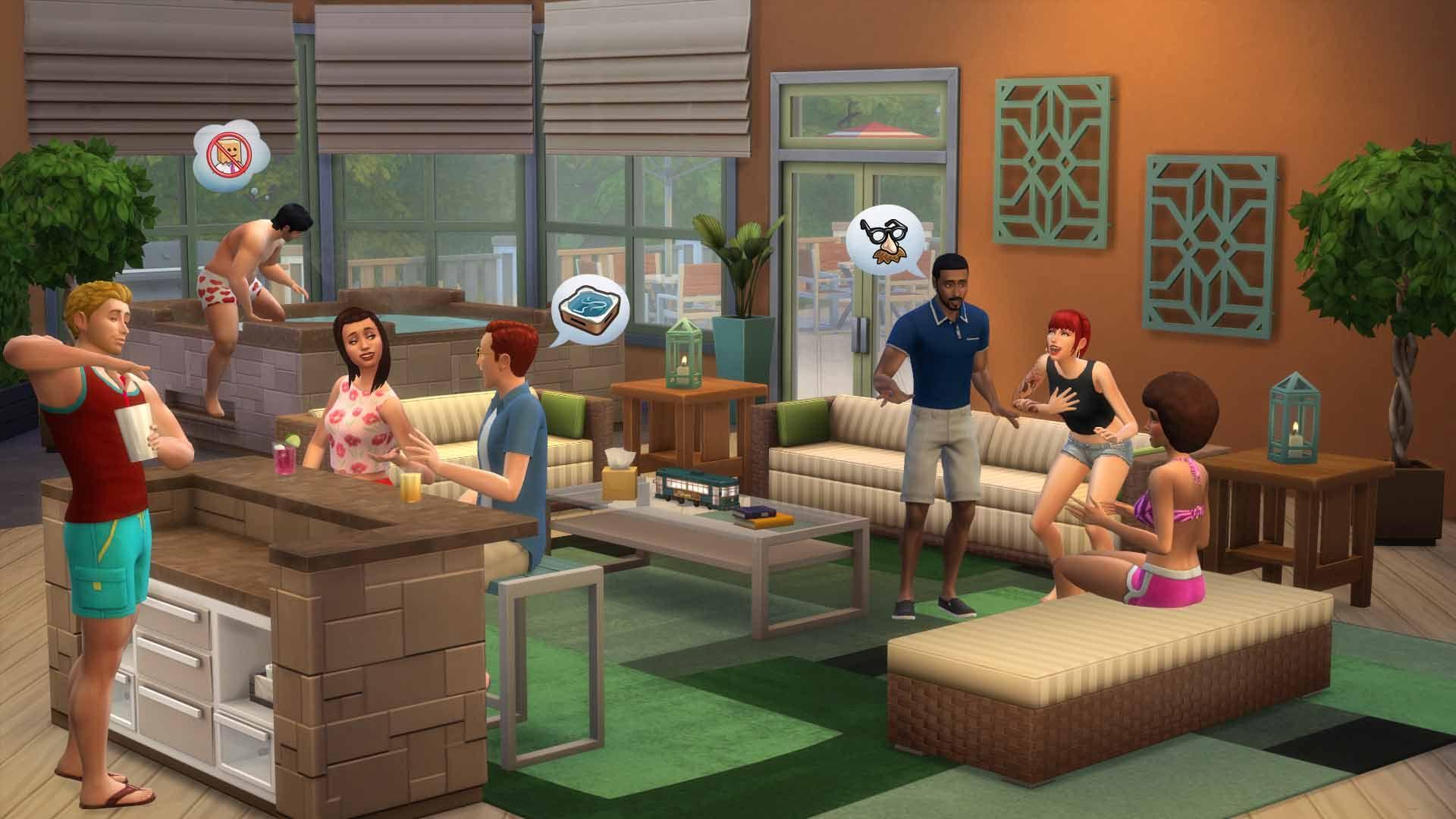 Sedia A Sdraio The Sims.The Sims 4 Esterni Da Sogno Stuff Per Pc Mac Origin